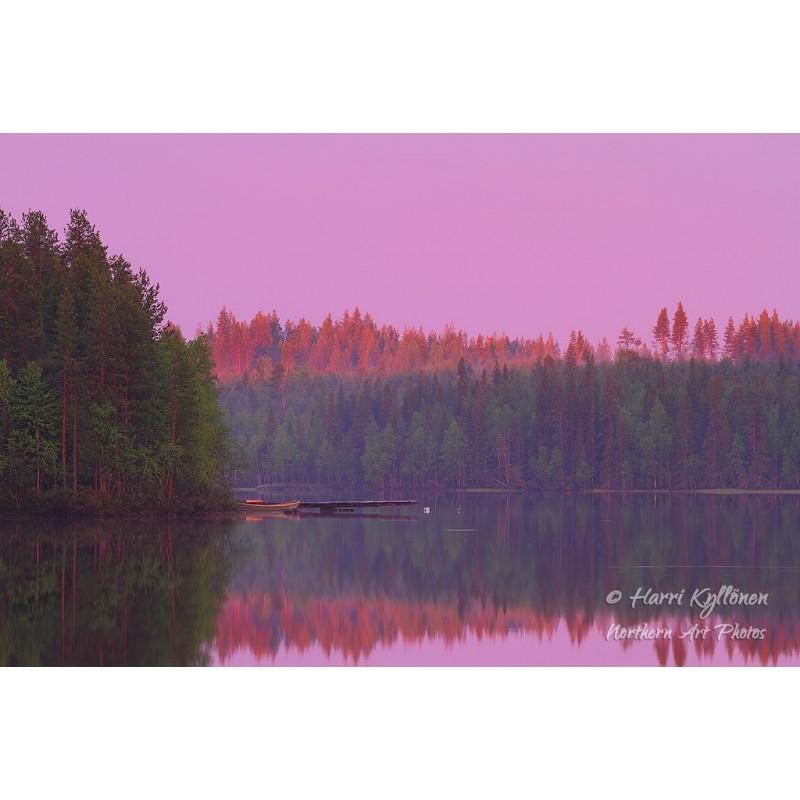 Kesäyön värit - Canvas-taulu