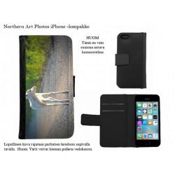 Valkoinen poron vasa - iPhone -kotelo