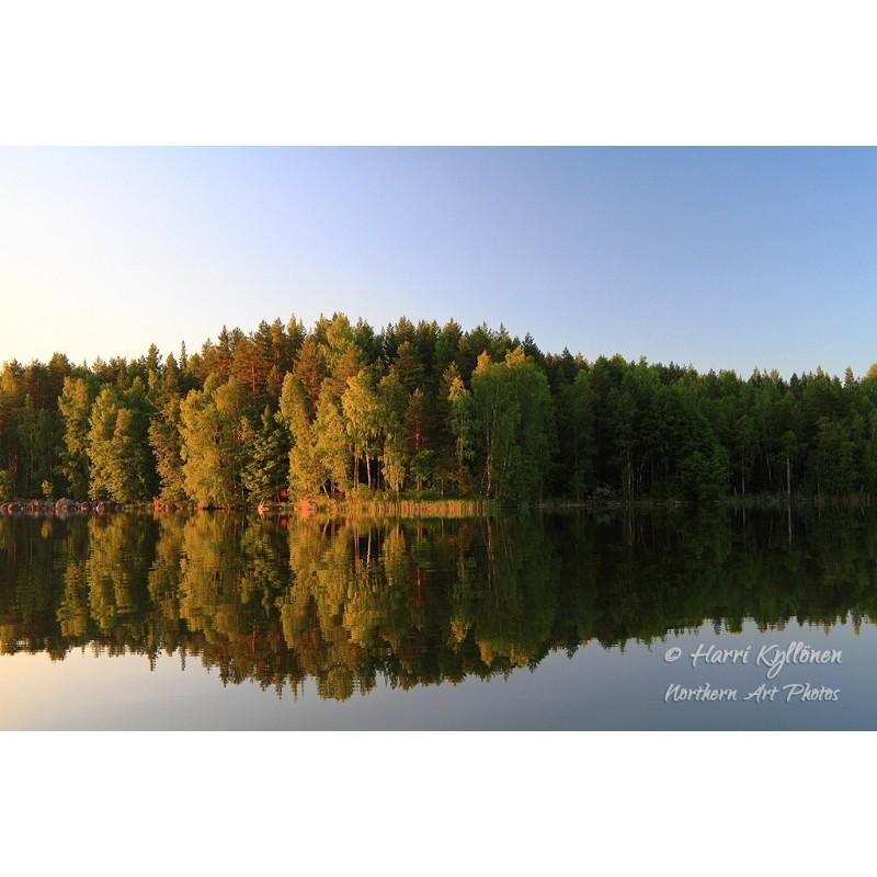 Järven ranta - Canvas-taulu
