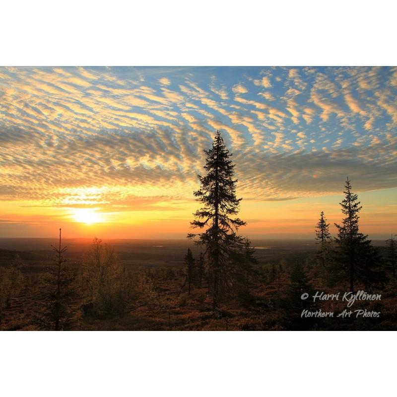 Auringonlaskunäkymä IV - Canvas-taulu