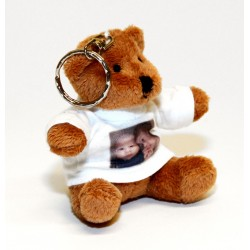 Customized Photo Teddy bear Key Fob