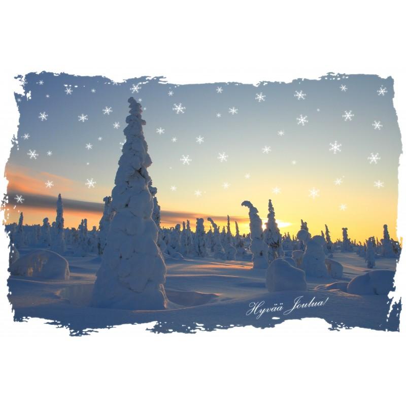Talviaurinko - 10x15cm joulukortti
