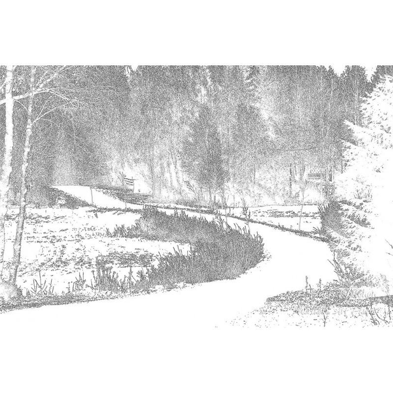 Valkoinen tie - Canvas-taulu