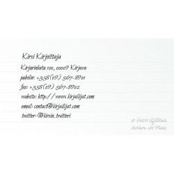Kaunoteksti - Käyntikortti