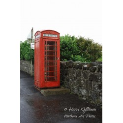Old telephone booth - Canvas print