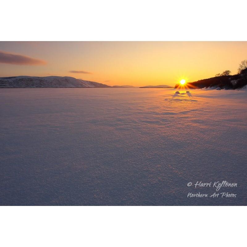 Pohjoisen auringonlasku - Canvas-taulu
