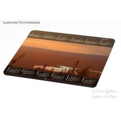 Auringonlaskunäkymä - Hiirimatto / kalenteri