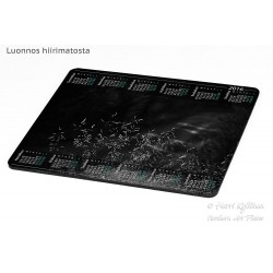 Hidden forest road bw - Mousepad / Calendar