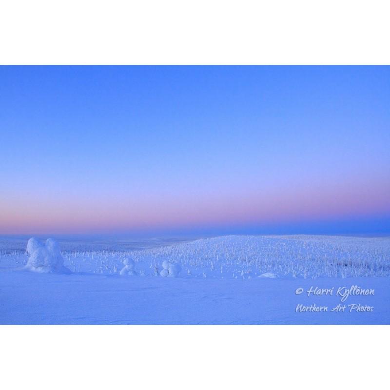 Talvi-iltapäivä Riisitunturissa - Canvas-taulu