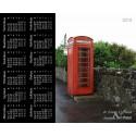 Vanha puhelinkoppi - Hiirimatto / kalenteri