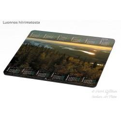 Iivaaran kultainen näkymä - Hiirimatto / kalenteri