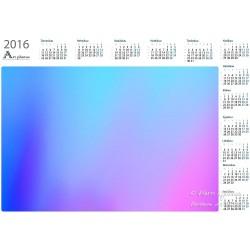 Blue shades - Year Calendar