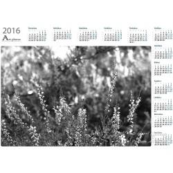 Heather bw - Year Calendar