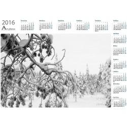 Snowy branches - Year Calendar