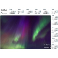 Aurora colours - Year Calendar