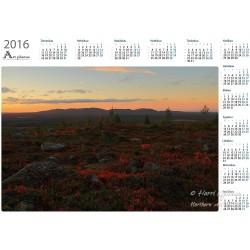 Javarustunturi ground colours - Year Calendar