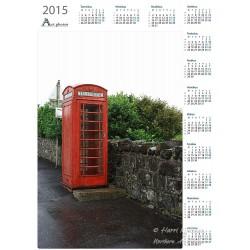 Vanha puhelinkoppi - Vuosikalenteri