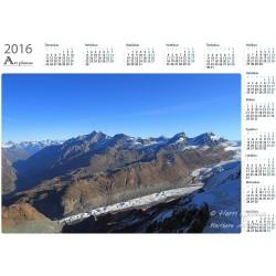 Glacier flow - Year Calendar
