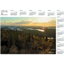 Iivaaran kultainen näkymä - Vuosikalenteri