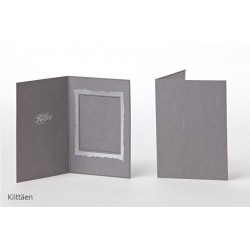 Customized Photo Grey Thank-You Card With A Foil Press