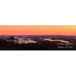 Näkymä Iivaarasta auringon laskettua - HD - Canvas-taulu