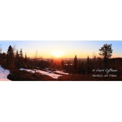 Sunset in Iivaara - HD - Canvas print