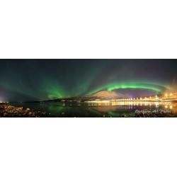 Auroras over Bjerkvik - HD - Canvas print