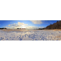 Soukanniemi winter view - HD - Canvas print