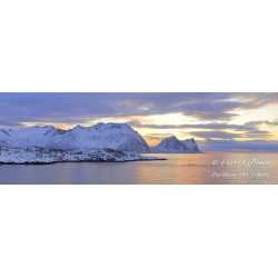 Torstenberget and Teisten at sunset - HD - Canvas print