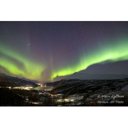 Aurora dance over Gratangsbotn - Canvas print