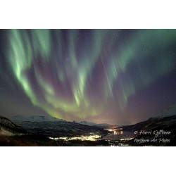 Aurora streams - Canvas print