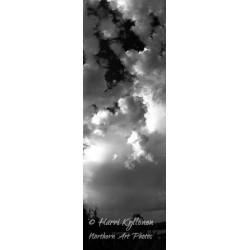 Clouds b&w - HD - Canvas print
