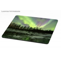 Northern lights on the river - Mousepad / Calendar