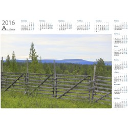 Old Wood Fence - Year Calendar