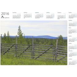 Old Wood Fence - Year Calendar