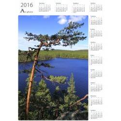 Summer colours at Tervajärvi - Year Calendar