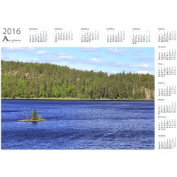 Windy lake - Year Calendar