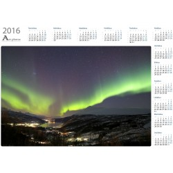 Aurora dance over Gratangsbotn - Year Calendar