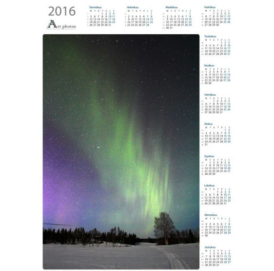 Aurora stream - Year Calendar