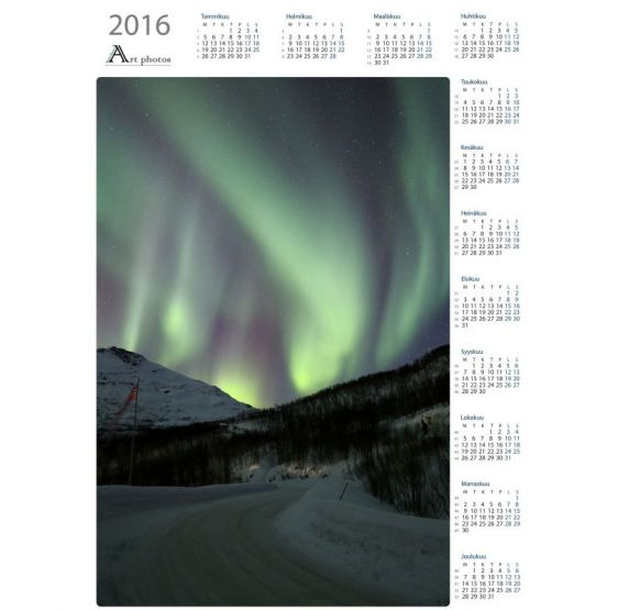 Johdattelevat revontulet - Vuosikalenteri