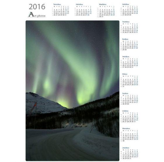 Leading auroras - Year Calendar