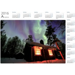 Northern light hut - Year Calendar