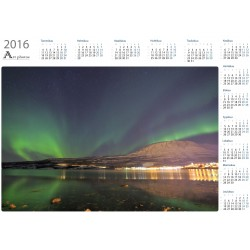 Northern lights at Bjerkvik - Year Calendar