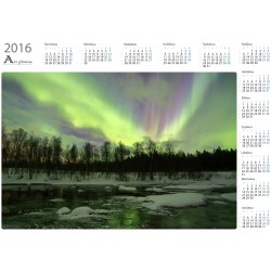 Northern lights on the river - Year Calendar