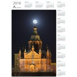 Superkuu ja Uspenskin Katedraali - Vuosikalenteri