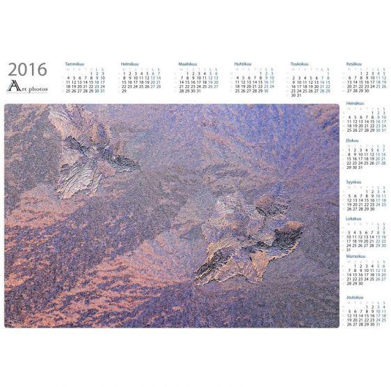 Auringonlasku jäämuodostelman takana - Vuosikalenteri