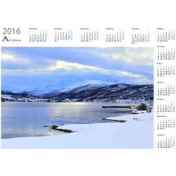 Cracking sky - Year Calendar