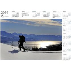 Mountain skier - Year Calendar
