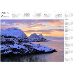 Teisten ja auringon lasku - Vuosikalenteri