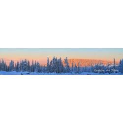 Airosvaara ja talvinen auringonlasku - Tapetti